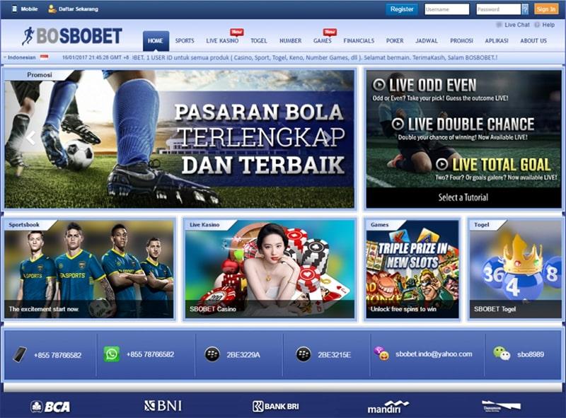 situs agen judi bola sbobet bosbobet online terpercaya indonesia